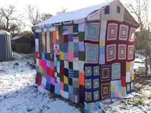 helpful info yarn bombing. Black Bedroom Furniture Sets. Home Design Ideas